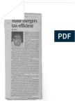 Make mergers tax-efficient