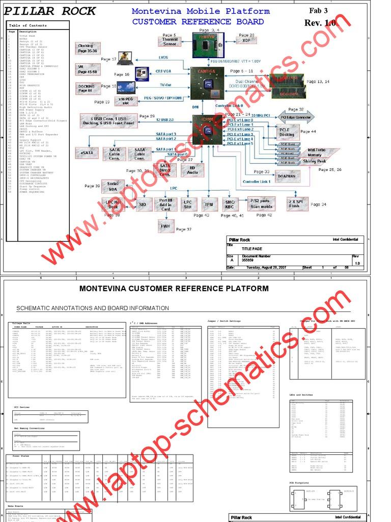 Laptop Schematic Diagram  Intel Montevina Mobile Platform