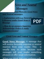 Good News & Neutral Message