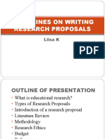 Guidelines on Writing Research Proposals.2