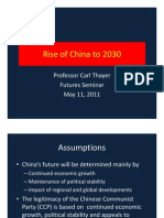 Thayer China's Rise Scenarios to 2030