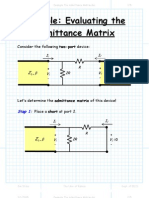 Example the Admittance Matrix