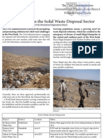 Progress Report on the Solid Waste Disposal Sector