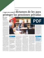 Aprueban Dictamen de Ley Para Proteger Las Pensiones Privadas