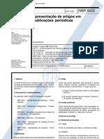 NBR 06022 - 1994 - Apresenta ̄o de Artigos em Publicaes Pe