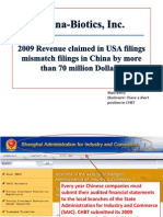 China-Biotics' 2009 Revenue is 70 Million Dollars Off