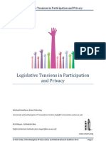 Legislative Tensions In Participation And Privacy