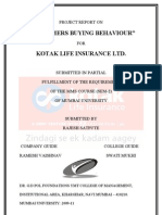Consumers Buying behaviour in life insurance