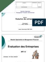 Evaluation Des Entreprises OMAR LAHLOU