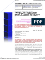 Two Billion Dollars in Rahul Gandhi's Account