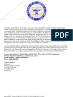 DC NAACP Political Action Committee Email -White House Community Conversation With Michael Blake and DC House Hearing