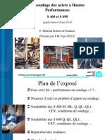 Institut de Soudure - Le soudage des aciers à Hautes Performances