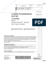 Accounts may 2010 IGCSE