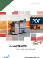 Bizhub PRO C6501 Brochure