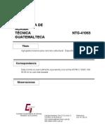 Propuesta de Norma NTG 41065 (C 330 C 330 M-05)