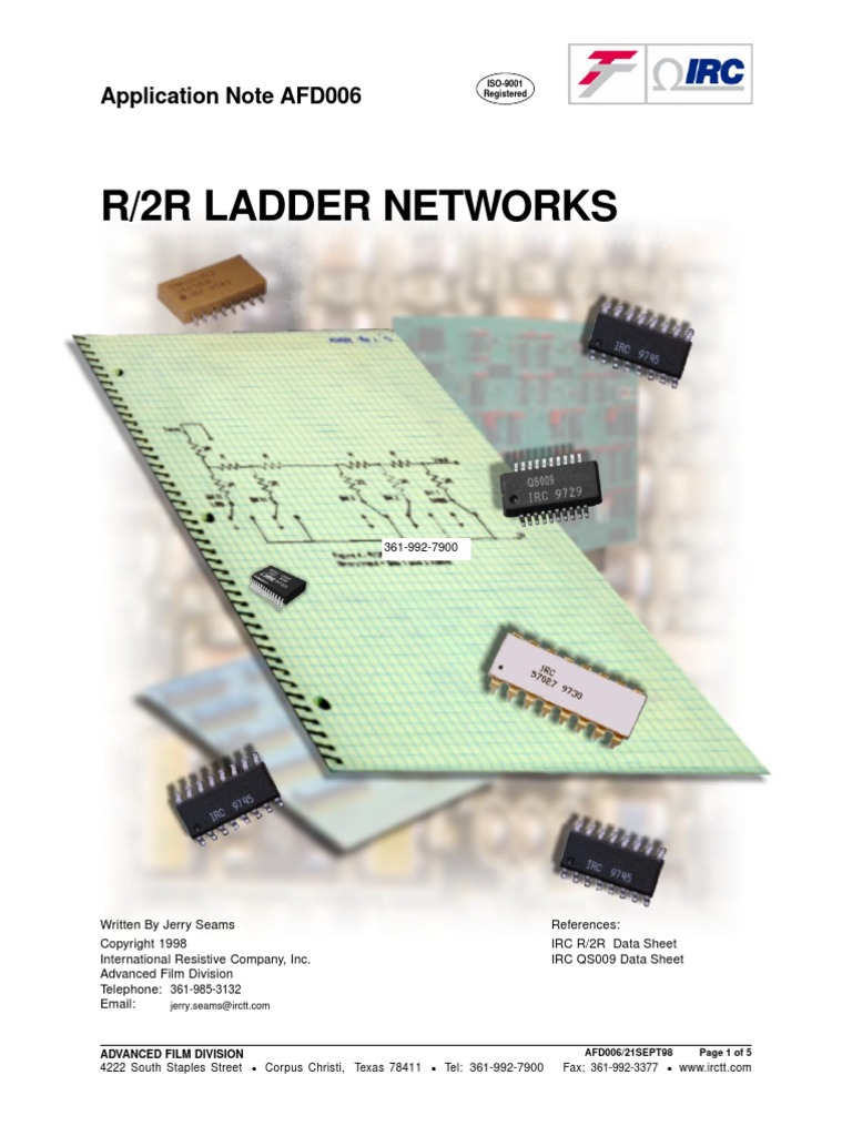 Ladder Networks Resistor Digital To Analog Converter Working Of 4 Bit R 2r D A Circuit 1 Technical