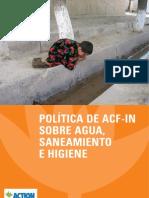POLÍTICA DE ACF SOBRE AGUA, SANEAMIENTO E HIGIENE
