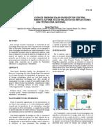 Concentracion de La Energia Solar HELIOSTATOS