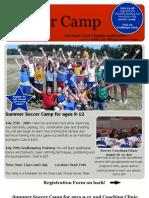 Summer 2011 Soccer Camp Kids Flyer