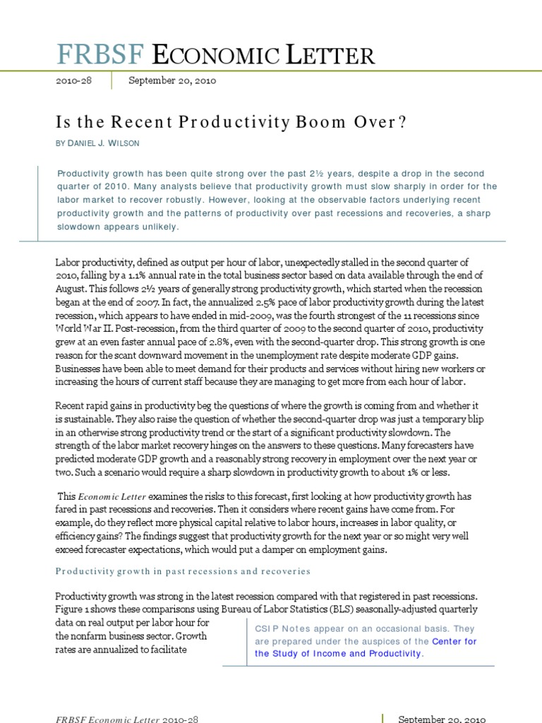 2010 09 frbsf is the recent productivity over recession economic growth