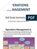 SELF STUDY - Operations Management