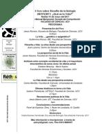 Programa Final Foro Filos Biologia.biofIL2011