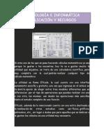 APLICACIÓN Y RECURSOS TECNOLOGÍA E INFORMÁTICA