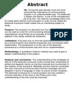 Balance Score Card Project Report