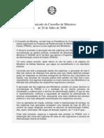 ComunicadoConselhoMinistros_200706