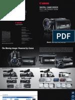 CANON Digital Camcorder Full Line Guide 080801