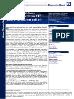 Deutsche Bank -- US ETF Market Weekly Review