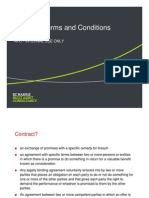 Contract Terms and Conditions Expert Presentation