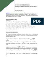 SIGNIFICADO DE PRIMICIA (diccionario terminológico, hebreo bíblico y secular, RAE)