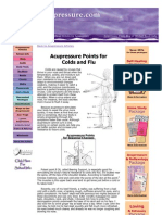 Accupressure for Cold and Flu