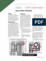 Plant Service Bulletin Corrosion-Fatigue Failures of Riser Tube Bends