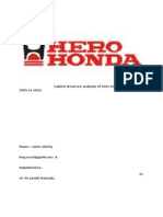 Capital Structure Analysis of Hero Honda