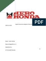 Capital Structure Analysis of Hero Honda