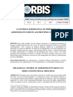O Controle Jurisdicional do Mérito do Ato Administrativo frente aos Princípios Constitucionais