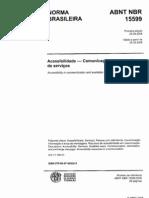 NBR nº 15.599 - Acessibilidade na comunic Serviços