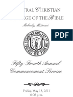 CCCB 2011 Commencement Program