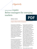 Beyond Expats Better Managers for Emerging Markets