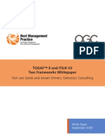TOGAF 9 and ITIL V3 - Two Frameworks