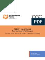 TOGAF 9 and ITIL V3 - Two Frameworks