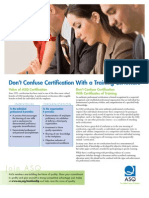 Certification vs Certificate
