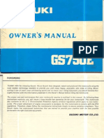 GSX750E Owners Manual