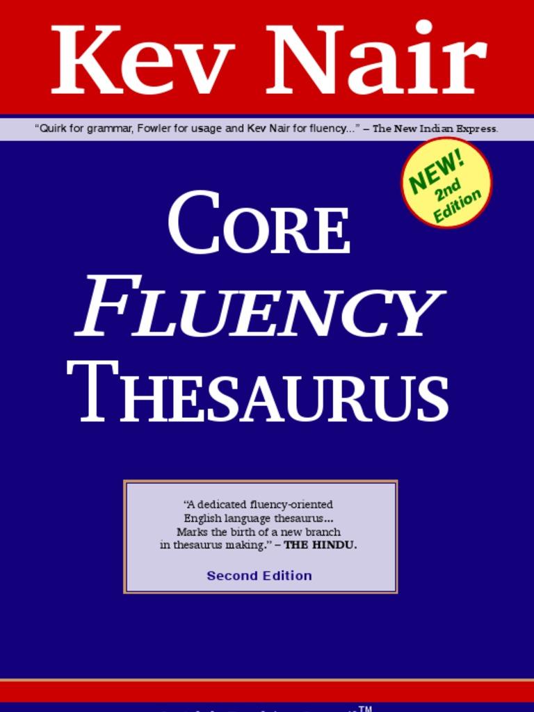 Core fluency thesaurus by kev nair 2nd edition 203p adverb verb solutioingenieria Choice Image