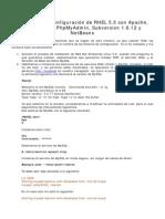 37610225 Instalacion y Configuracion de RHEL 5 5 Con Apache PHP MySQL Php My Admin Subversion 1-6-12 y NetBeans
