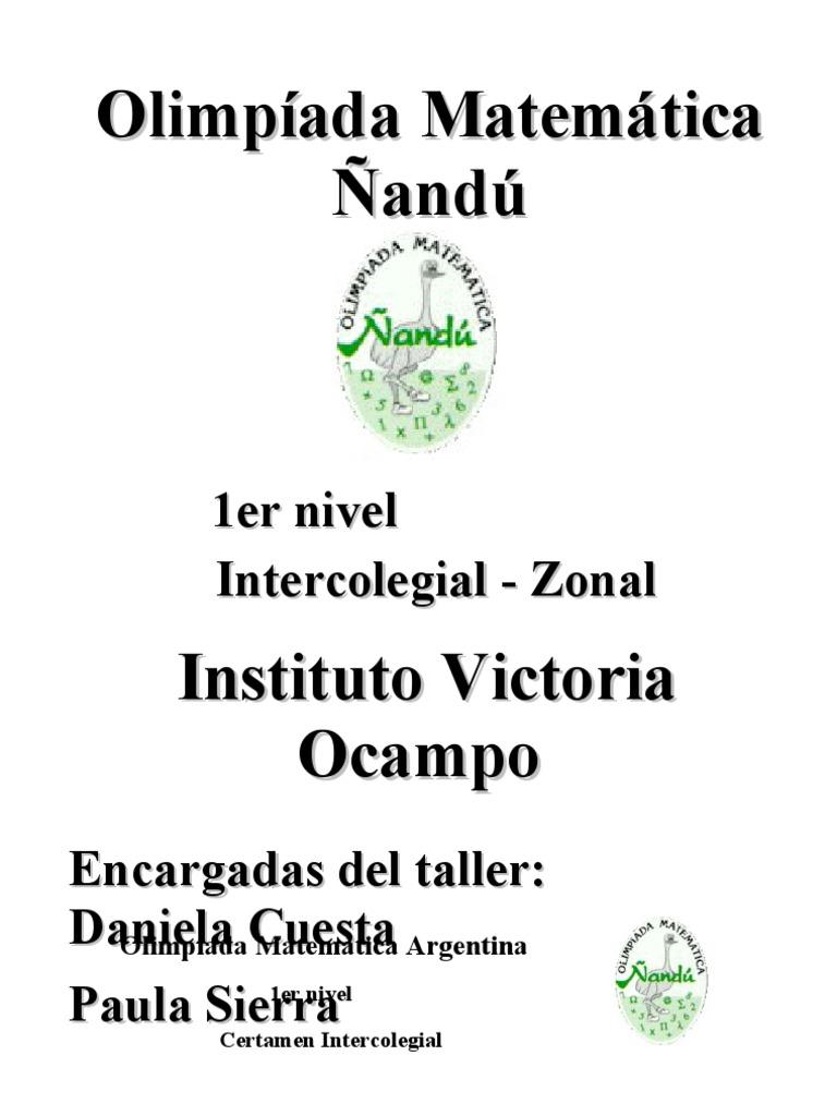 Nandu Nivel 1 Primer Cuadernillo