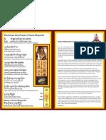 Guru Rinpoceh Seven Line Prayer - Front and Back MASTER