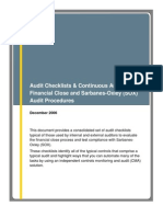 Audit Checklists & Continuous Auditing